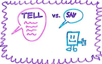 """TELL vs. SAY, jak """"mówić"""" po angielsku?"""