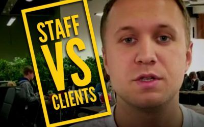 STAFF vs CLIENTS #EnglishUp