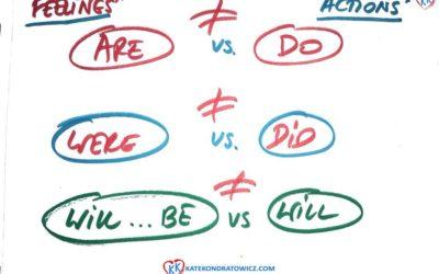 Jak pytać o uczucia a jak o czynności? (Przeszłość, Teraźniejszość, Przyszłość)