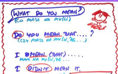 ➡️ Jak powiedzieć CO MASZ NA MYŚLI po🇬🇧🤔? #AngielskiwMinute