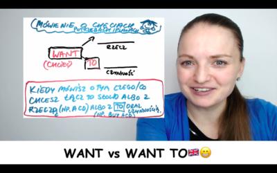 WANT czy WANT TO? Potrzeby, chęci, plany 🇬🇧😁 #ZapytajKate
